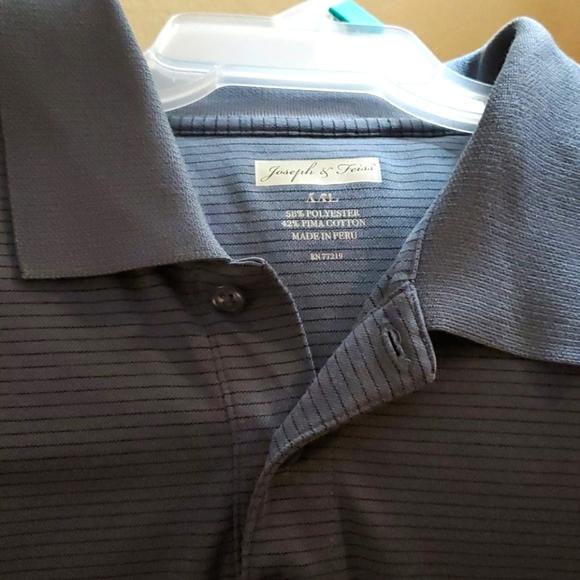 Men's grey and black striped shirt